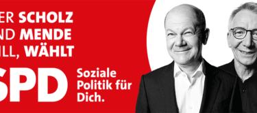 Wer Scholz und Mende will, wählt SPD